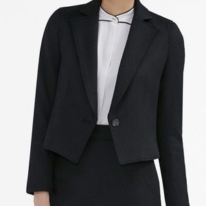 MM LaFleur Albright Blazer In Onyx Weave Size 16